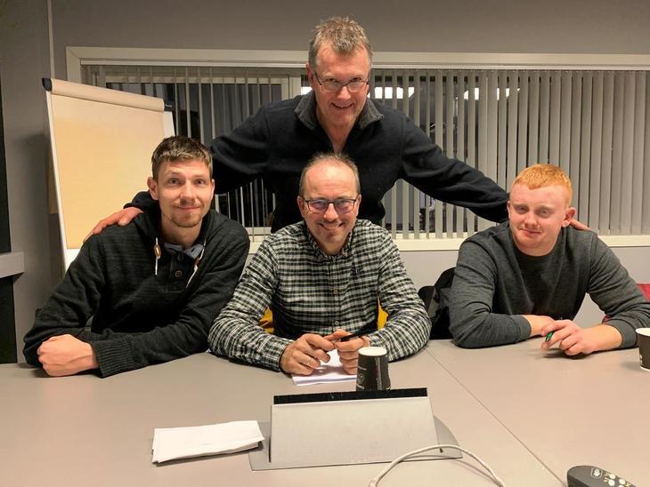 Styret i Bergen Bondelag: Torbjørn Midtun, Eivind Myrdal, Per Toppe og Vidar Helland. Øyvind Thorsen og Jørn Erik Toppe var ikkje med på bildet.