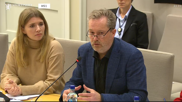 F.v advokat Karoline Hustad og senioirrådgiver Finn Erlend Ødegaard.