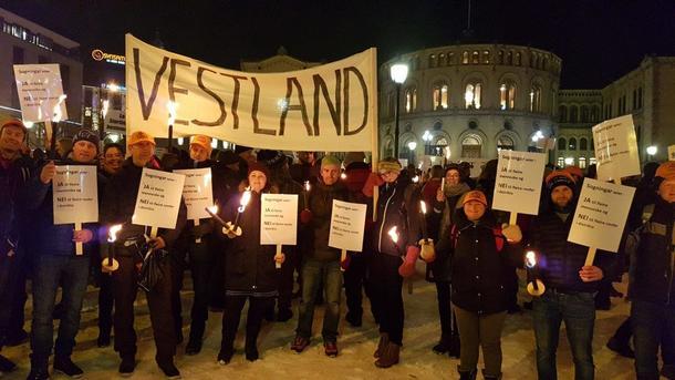Demonstrasjon mot rovdyr i Oslo