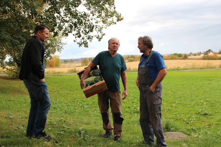 Lars Petter Bartnes, Anders Holter og Thor Johannes Rogneby.