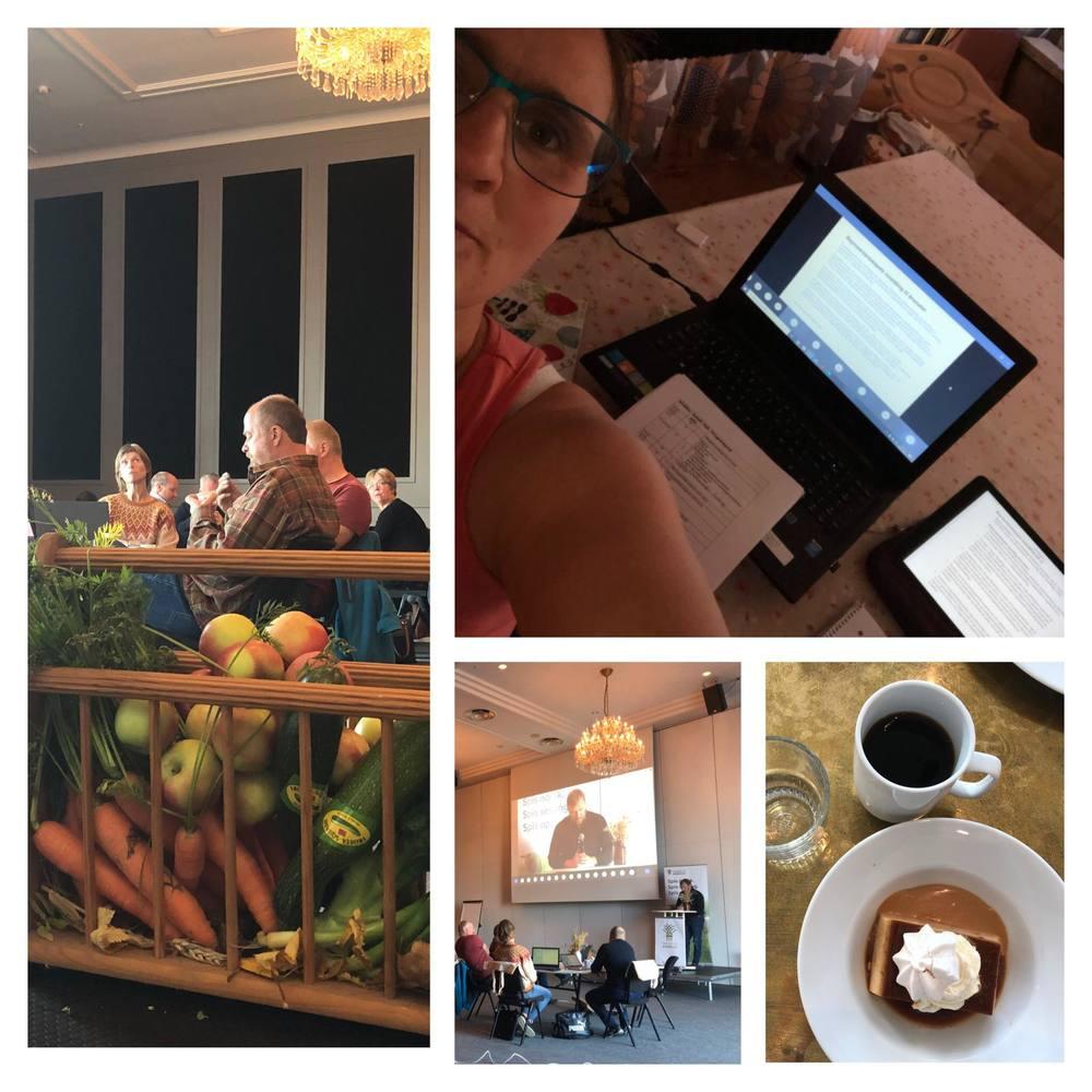 God stemning, og god mat! Digitalt årsmøte gjør det også mulig å delta fra hjemmekontor, som øverst til Høyre, hos Laila Iren Veie i Ørland.