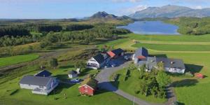 Oversiktsbilde av gården til Margrethe