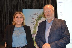 Innledere på temadag eierskifte i Molde, advokatene Marit Moe Rasmussen og Ole Houlder Rødstøl. (Foto: Arild Erlien).