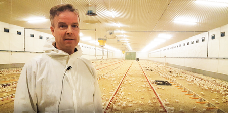 Mikael Løken i kyllinghuset