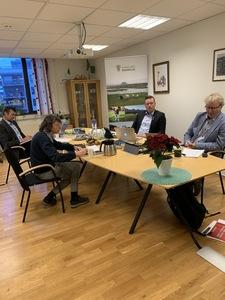 Fra venstre: Styremedlem Solveig Utvik, nestleder Ketil Trongmo, fylkesleder Trond Bjørkås og org.sjef Geir Jostein Sandmo.